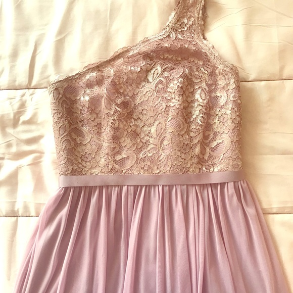 David S Bridal Rose Gold Long Dress